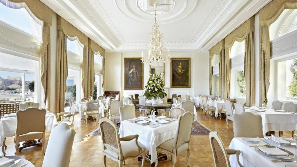 Tudor Hall Restaurant Athens King George Indoor Area