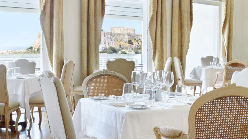 Tudor Hall Restaurant Athens King George View Acropolis