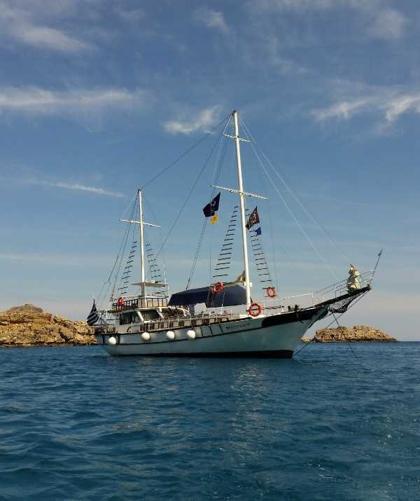 Sheraton Rhodes Resort SPG Moment One day cruise Lindos Sailing Boat