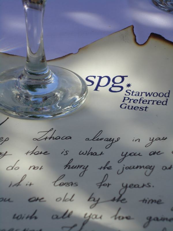 Sheraton Rhodes Resort SPG Moment One day cruise Lindos Travel to Ithaca poem