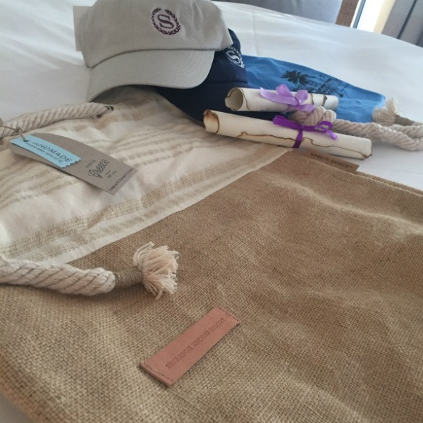Sheraton Rhodes Resort SPG Moment One day cruise to Lindos welcome gifts 600x400