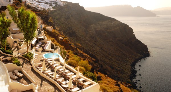 Journey to Greece Mystique Santorini Cliff View