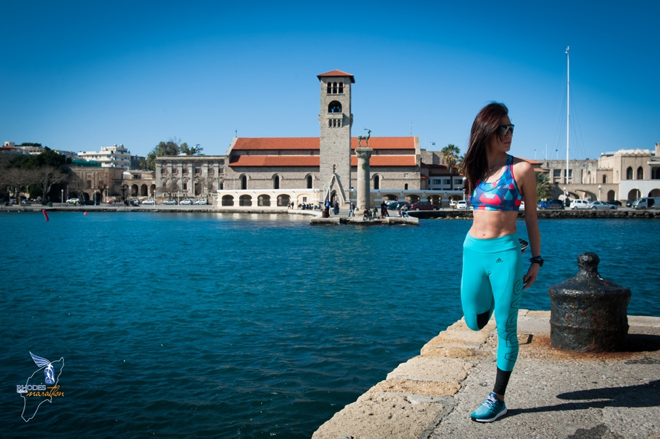 Rania Rembouli Greek top athlete and runner to participate at the Roads to Rhodes Marathon before the Olympic Games in Rio 2016