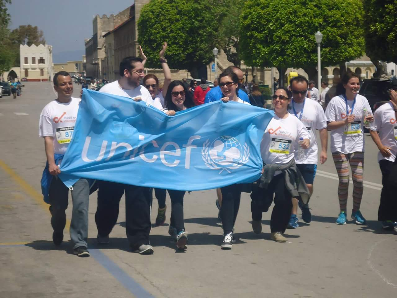 Roads to Rhodes Marathon participating associates team of Sheraton Rhodes Resort in support of Unicef and Road2Awareness project (1)
