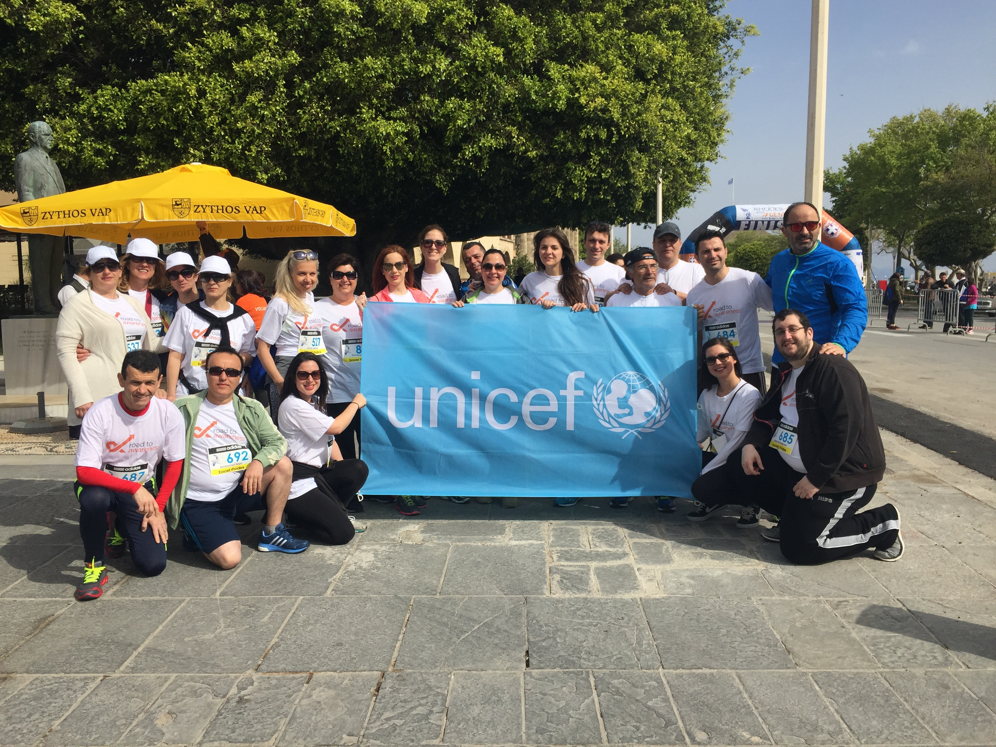 Roads to Rhodes Marathon participating associates team of Sheraton Rhodes Resort in support of Unicef and Road2Awareness project (2)