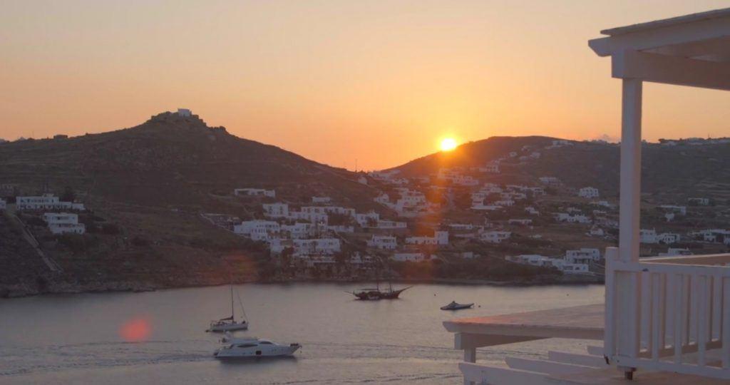 sunset in mykonos_Journey Greece_Santa Marina Hotel