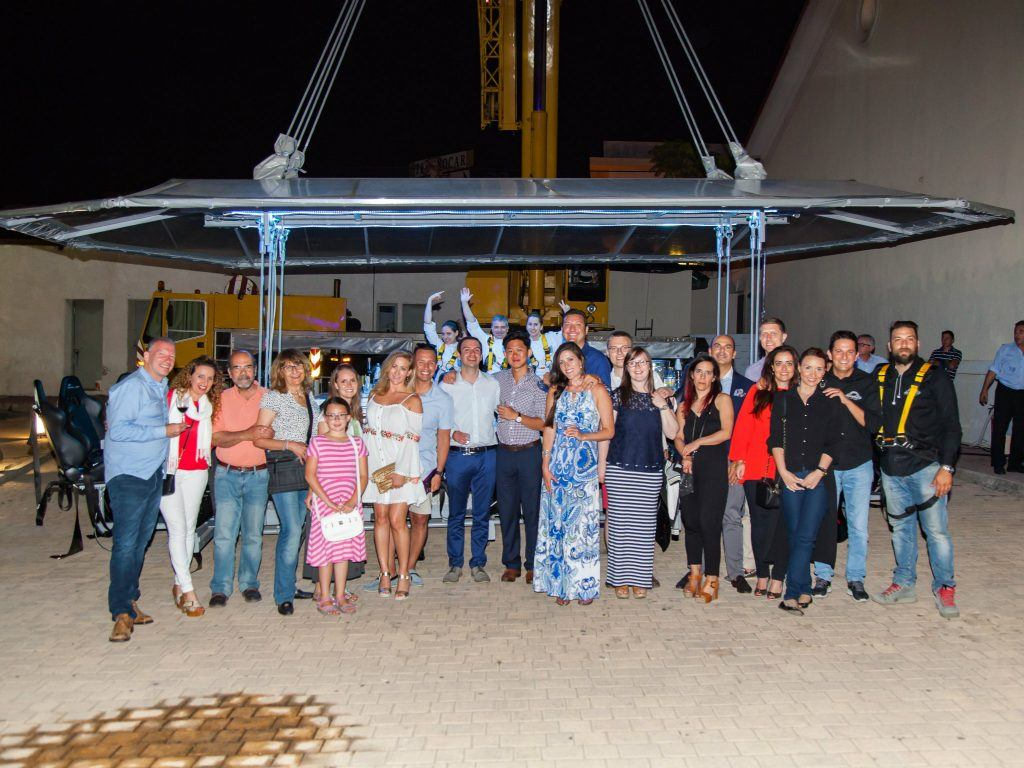 Journey Greece SPG Moment Dinner in the Sky of Athens Group Photo