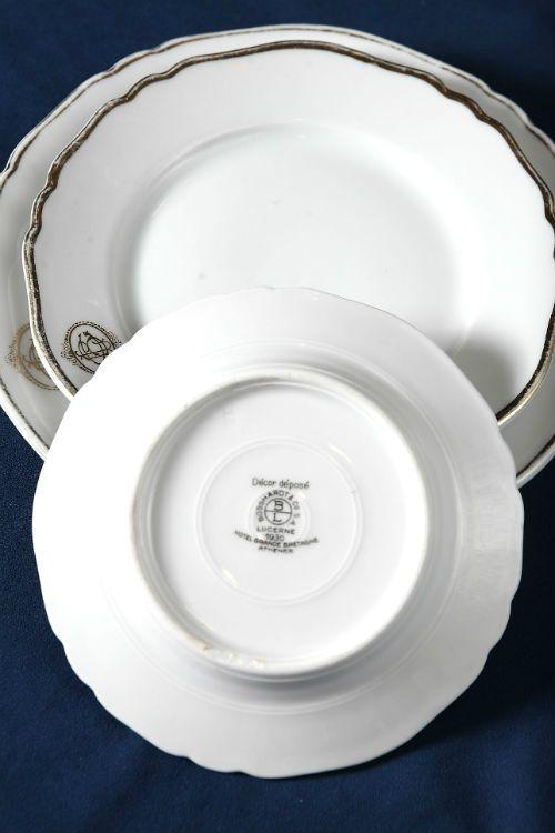 historic porcelain tableware hotel grande bretagne athens