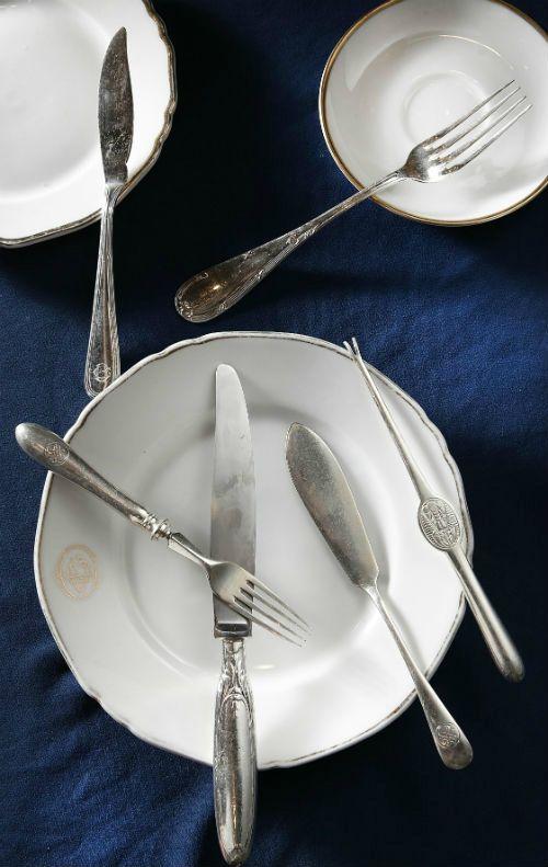 historical cutlery hotel grande bretagne athens