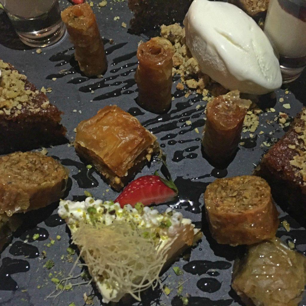 Dessert Collection dish at Thea Restaurant Sheraton Rhodes Resort