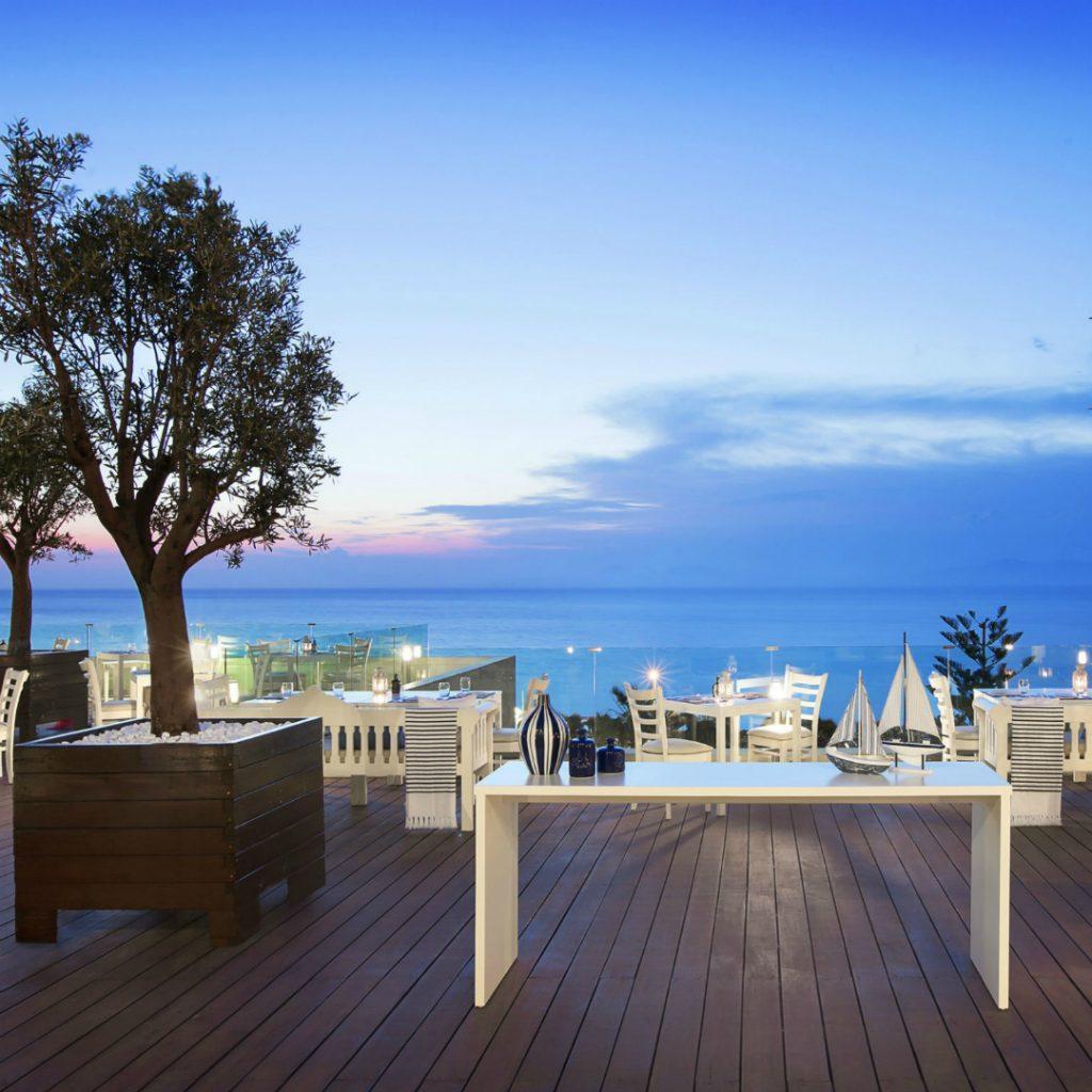Greek Cuisine Thea Restaurant sea view veranda Sheraton Rhodes Resort SPG Greece