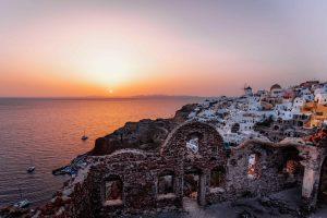 Santorini sunset - beautiful destinations - greece